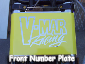 Polished front number plate