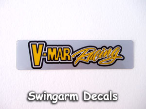 V-Mar Racing swingarm stickers