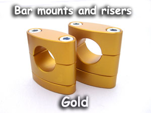 Bar Mounts with risers, gold