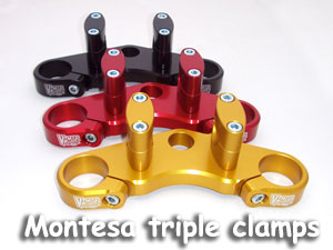 Triple clamps with fat bar mounts