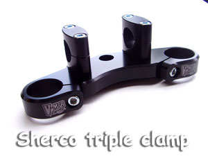 Sherco Triple clamps with fat bar mounts