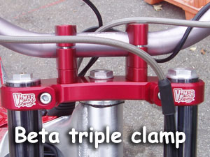 Beta Triple clamps with fat bar mounts